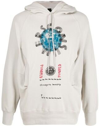 Bernhard Willhelm Camper Lab x graphic print hoodie