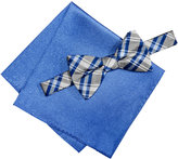Alfani Men's Blue Bow Tie & Pocket Square Set, Only at Macy's