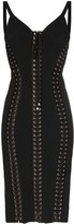 Dolce & Gabbana Cady sleeveless lace-up bodycon dress
