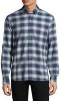John Varvatos Cotton Plaid Button-Down Shirt