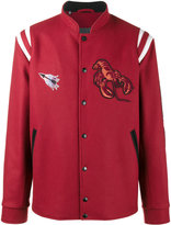 Lanvin embroidered basketball jacket - men - Cotton/Polyester/Viscose/Virgin Wool - 48