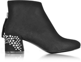 McQ by Alexander McQueen Black Suede Pembury Boots w/Studded Heel
