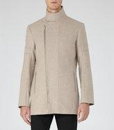 Reiss Reiss Atmosphere - Funnel Collar Coat In Brown