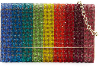 Judith Leiber Fizzoni Rainbow Crystal Full-Beaded Clutch Bag