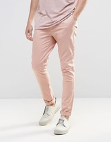 Asos Super Skinny Chinos In Pink