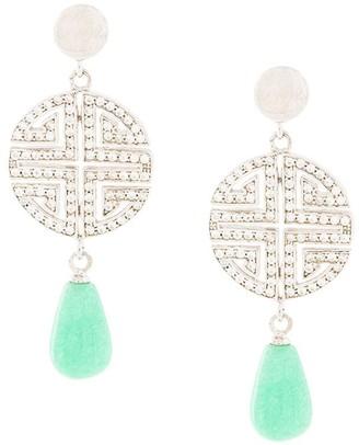 Shanghai Tang Fortune Shou earrings