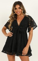 Showpo Do You Miss Me Dress in black lace - 4 (XXS) Dresses