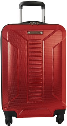 """Timberland Red Glencliff 20"""" Hardside Expandable Spinner Suitcase"""