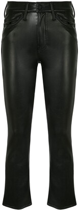 Mother The Insider Ankle faux-leather trousers