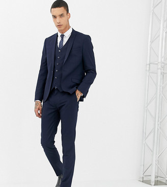 Heart N Dagger skinny suit pants-Navy