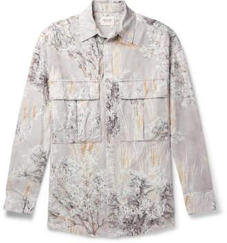 Fear Of God Oversized Printed Brushed-Cotton Shirt