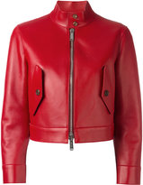 DSQUARED2 cropped biker jacket - women - Leather/Spandex/Elastane/Viscose/Polyimide - 40