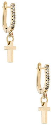 Vanessa Mooney The Little Gold Cross Earrings