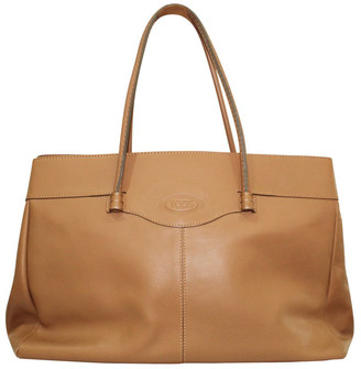 Tod's Brown Leather Tote Bag