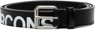 Comme des Garcons Logo-Print Leather Belt
