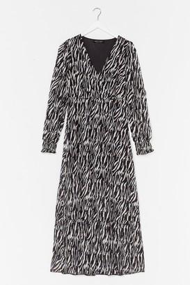 Nasty Gal Womens The Last I Herd Zebra Maxi Dress - Black - S