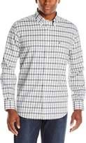 Nautica Men's Wrinkle Resistant End-On-End Poplin Plaid Shirt