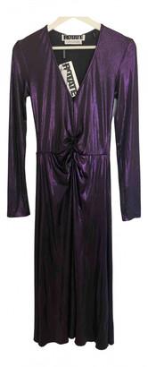 Rotate by Birger Christensen Purple Polyester Dresses