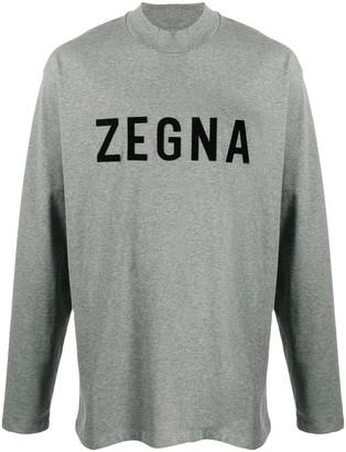 Ermenegildo Zegna FEAROFGODZEGNA flocked logo cotton sweatshirt