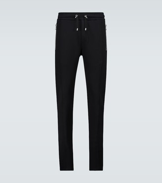 Balmain 3D Effect low crotch trackpants
