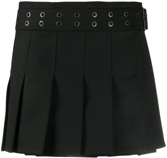 Junya Watanabe Pleated Belted Mini Skirt