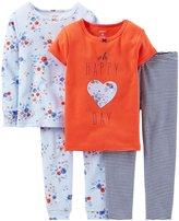 Carter's Little Girls' 4 Piece PJ Set (Toddler/Kid) -T