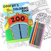BabyFish Personalised Colouring Books With Colouring Pencils Set