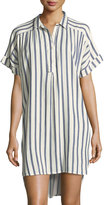 Gypsy 05 Sailor Striped Dolman-Sleeve Shirtdress
