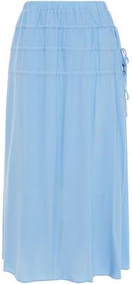 Rodebjer Kadiha Tie-detailed Crepe De Chine Midi Skirt