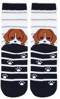Forever 21 Puppy Print Crew Socks