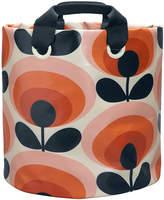 Orla Kiely 70s Flower Fabric Plant Bag - Persimmon - Large
