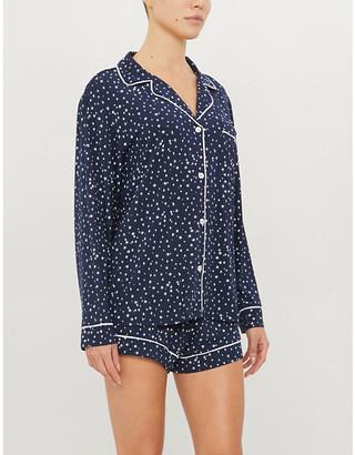 Eberjey Sleep Chic graphic-print stretch-jersey pyjama set