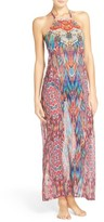 Laundry by Shelli Segal Women's Halter Cover-Up Maxi Dress