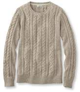 L.L. Bean Double L Mixed Cable Sweater, Crewneck Marled