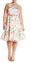 Taylor Floral Belted Fit & Flare Dress (Plus Size)