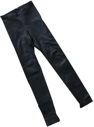 Utzon Black Leather Trousers for Women