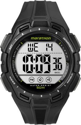 Timex Marathon by Men's TW5K94800 Digital Full-Size Black Resin Strap Watch