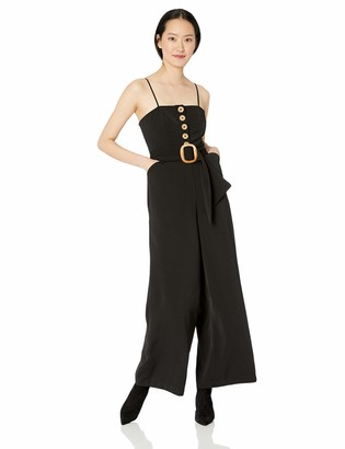 Finders Keepers findersKEEPERS Women's Westway Wide Leg Sleeveless Belted Jumpsuit