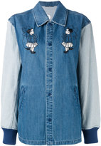 Opening Ceremony contrast sleeve coach jacket - women - Cotton - M