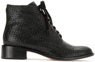 Textured Leather Boots