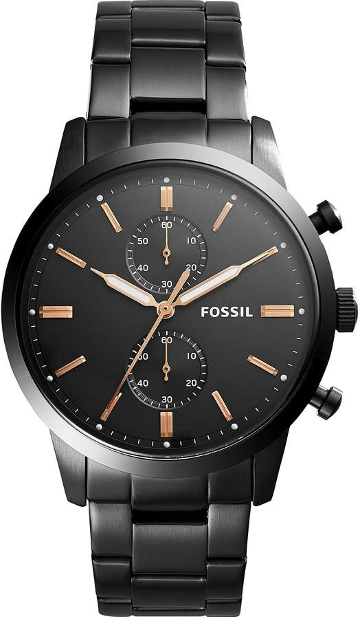 Fossil Men's '44mm Townsman' Quartz Stainless Steel Casual Watch, Color: (Model: FS5379)