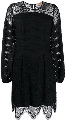 Twin-Set Macrame Lace Insert Dress