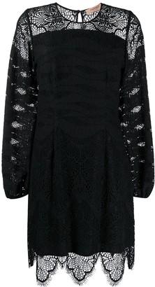 Twin-Set Twin Set macrame lace insert dress