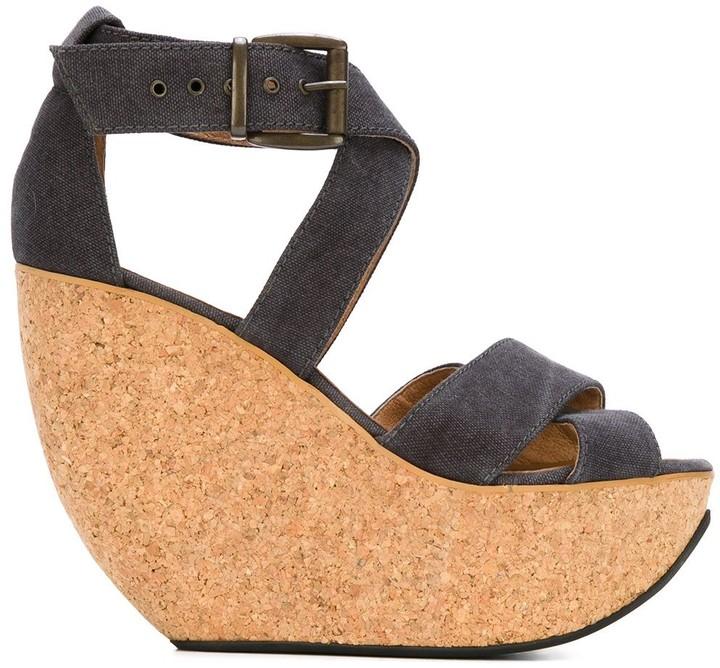 Mini Market 'Wati' wedge sandals