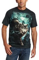 The Mountain Men's Night Wolves Collage T-shirt