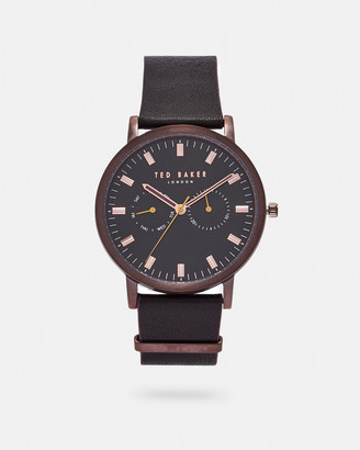 Ted Baker BRITBL Leather strap watch