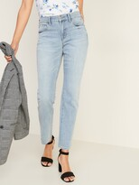 Old Navy Mid-Rise Light-Wash Power Slim Straight Jeans for Women