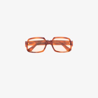 Gucci Brown Square Tortoiseshell Sunglasses