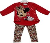 Disney Baby Girls Minnie Mouse Leopard Spot Print 2 Pc Pant Set 12M