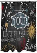 Thumbprintz Chalkboard ''Let Your Light Shine'' Fabric Shower Curtain